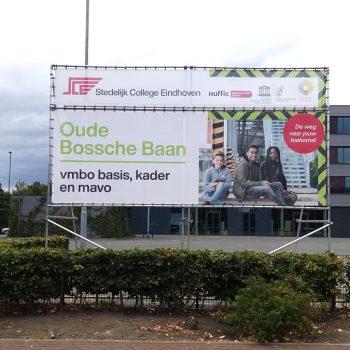 Spandoeken en frames - Stedelijk College Eindhoven