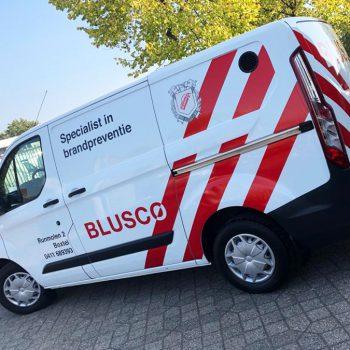 Belettering bestelbus - Blusco