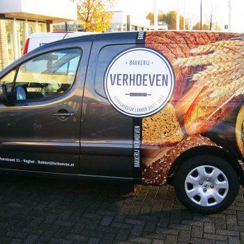 Bakkerij Verhoeven_Autobelettering_Bestelwagens