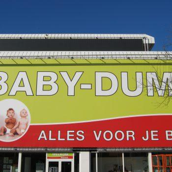 Gevel spandoek - Babydump