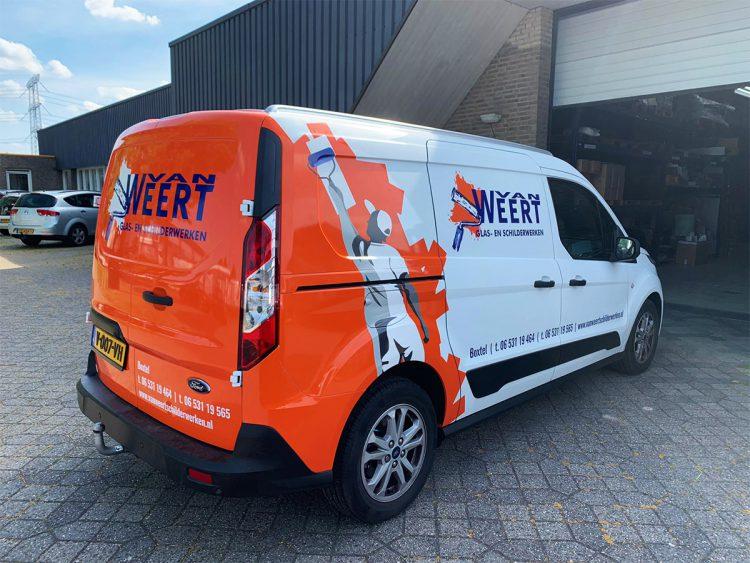 Autobelettering bestelwagen - Van Weert