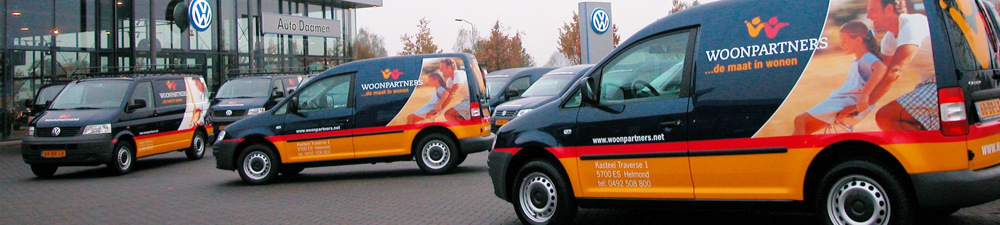 Belettering bestelwagens - Woonpartners