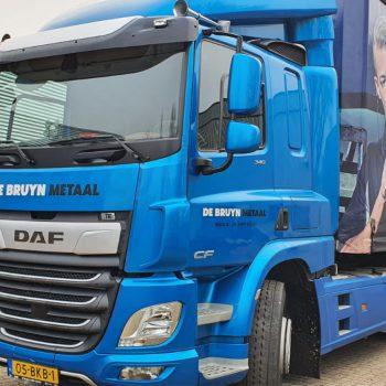 Vrachtwagenbelettering - De Bruyn Metaal