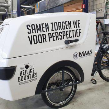 Belettering bakfiets - Maas