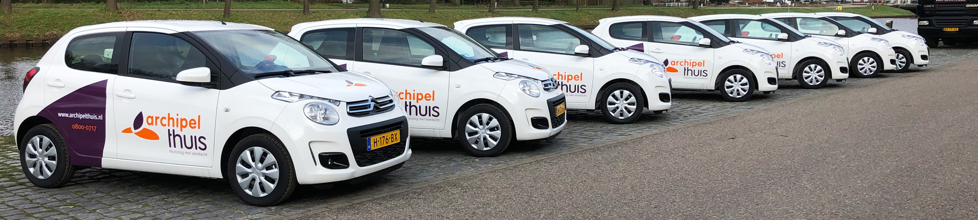 Belettering personenauto's Archipel Thuis