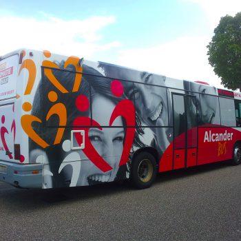 Belettering touringcar - Alcander