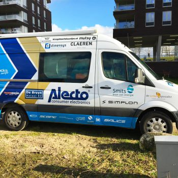 Alecto_Cyclingteam_Autobelettering_Tijdelijke voertuigen