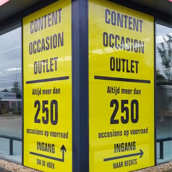 Raamdecoratie - Content Occasion Outlet