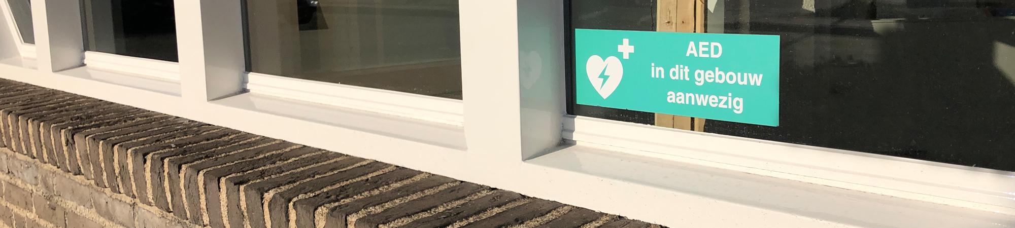 Sticker AED - Verver-Best