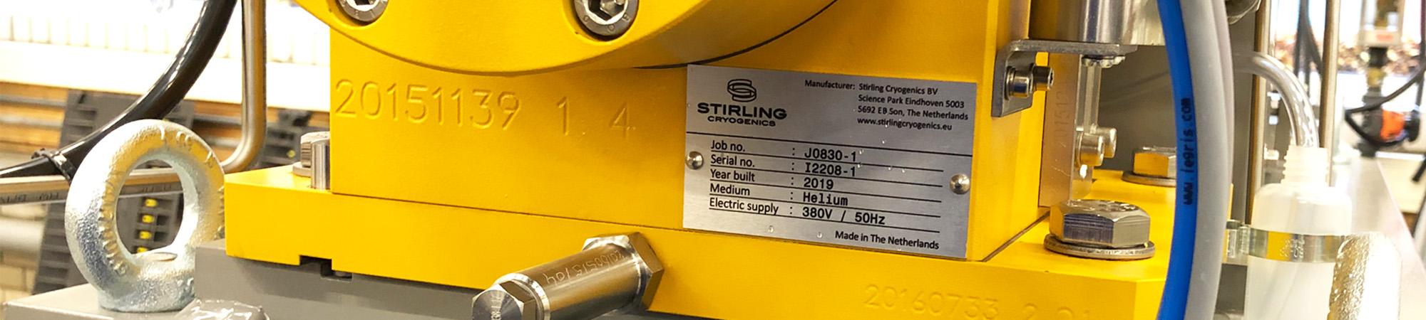 Typeplaatjes Stirling