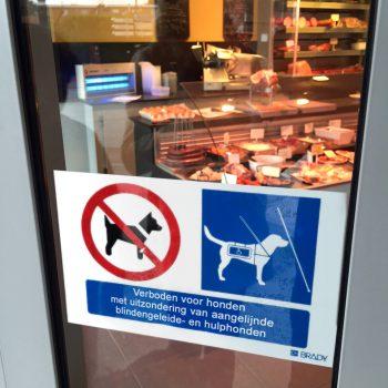 Sticker - Verboden voor honden